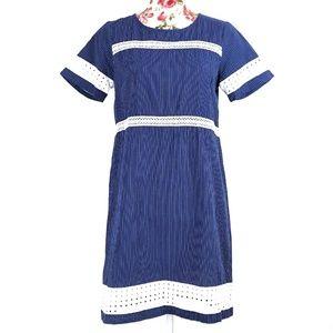 3/$35 Charming Charlie Striped Blue Shift Dress